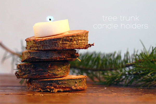 DIY Christmas Tree Trunk Candle Holder from Squirrelly Minds