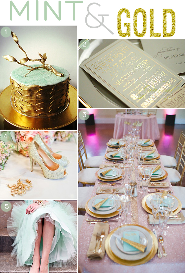 Wedding Inspiration Board - Mint & Green - Squirrelly Minds