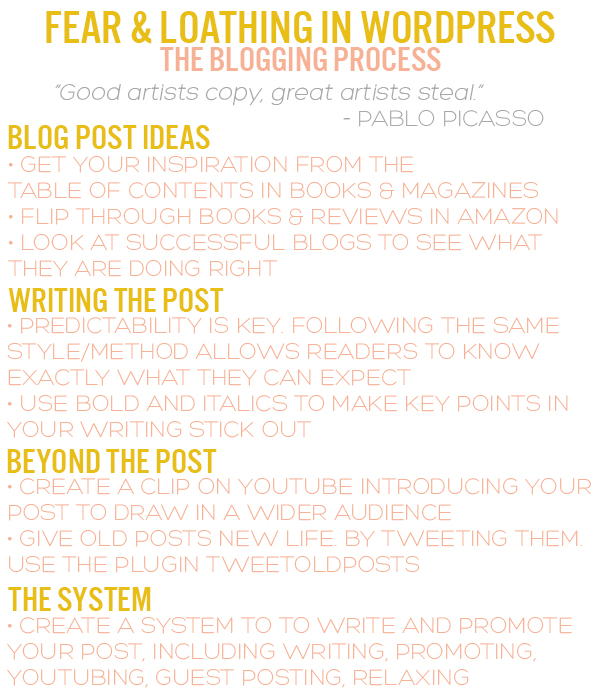 Infographic on the Blogging Process by Squirrelly Minds