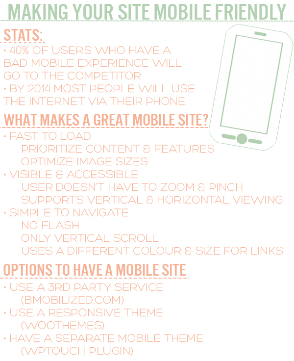 Making Your Site Mobile Friendly - Infographic by Squirrelly Minds