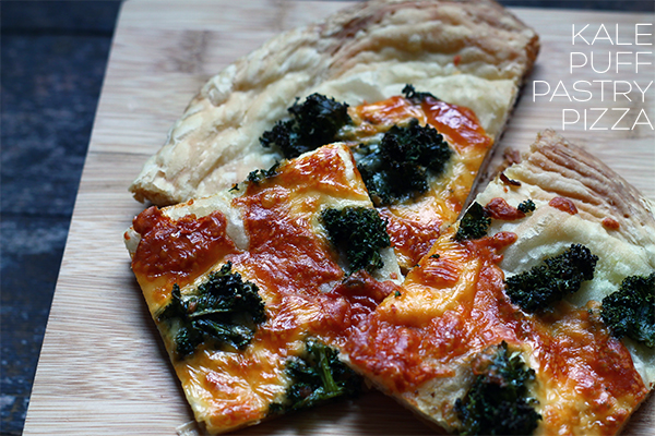 Kale Puff Pastry Pizza via Squirrelly Minds