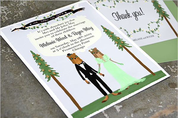 Animalistic Weddings on Squirrelly Minds with stationery by Shhh My Darling