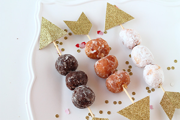 Cupid's donut hole arrows DIY from Squirrelly Minds