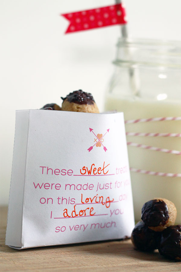 Free Printable Valentines Treat Bag from Squirrelly Minds