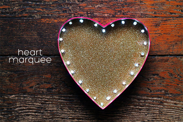DIY Heart Marquee by Squirrelly Minds