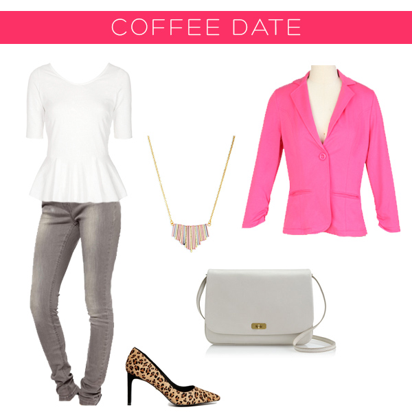 Valentine's Outfits 3 ways - coffee date | Squirrelly Minds