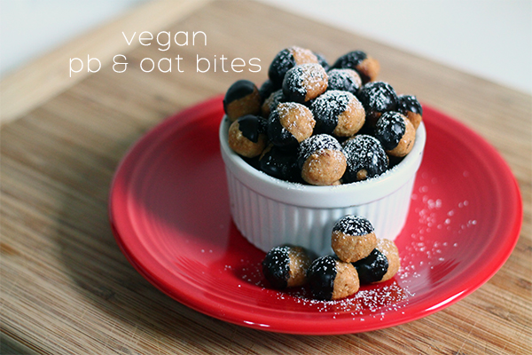 PB & Oat Bites Recipe from Squirrelly Minds