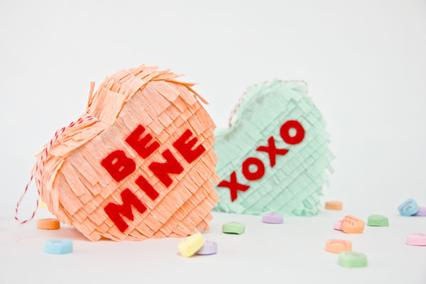 DIY Conversation Heart Pinata by Studio DIY