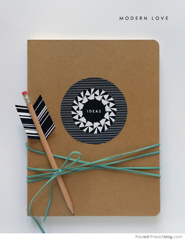 Valentine Notebook and Pencil Arrow Printable by The Red Thread