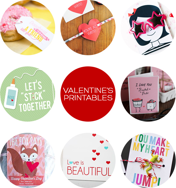 Valentine's Printables Roundup | Squirrelly Minds