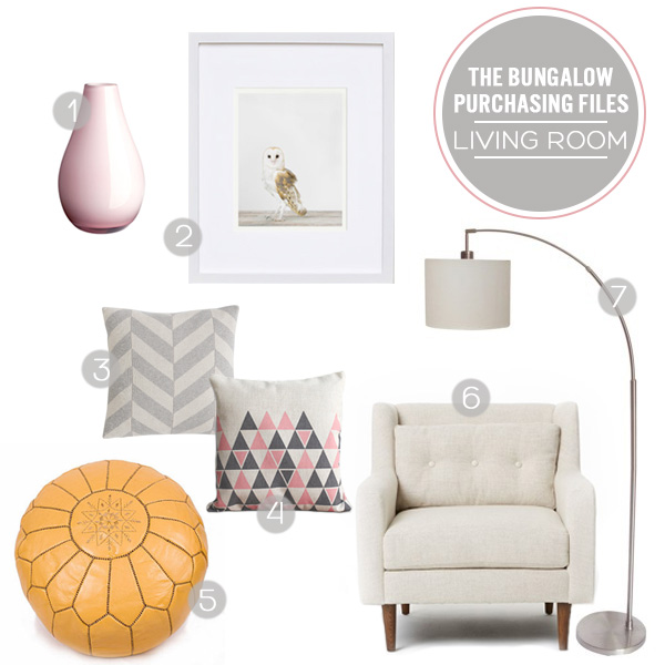 The Bungalow Purchasing Files - The Living Room | Squirrelly Minds