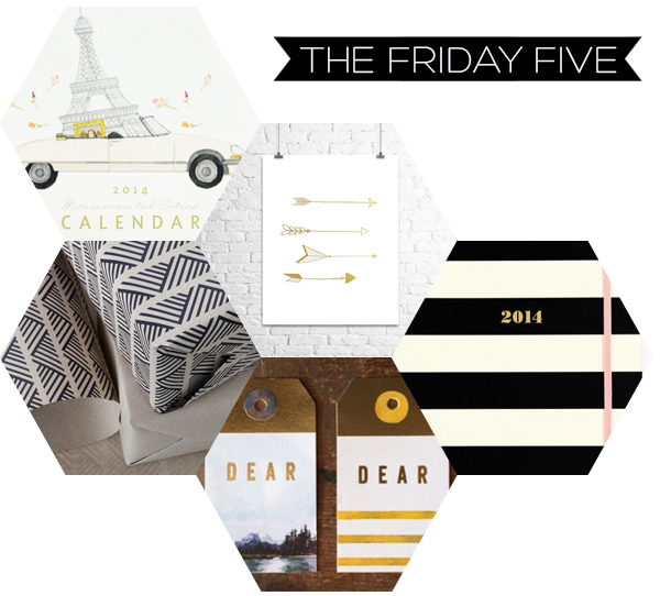The Friday Five - Paper Goods | Squirrelly Minds