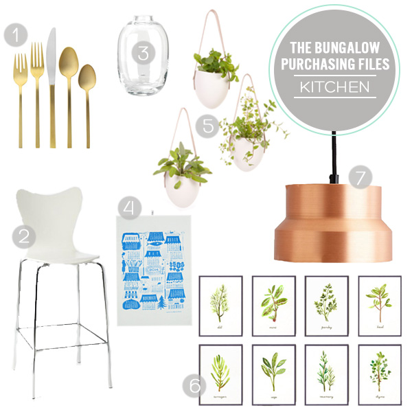 The Bungalow Purchasing Files - The Kitchen | Squirrelly Minds