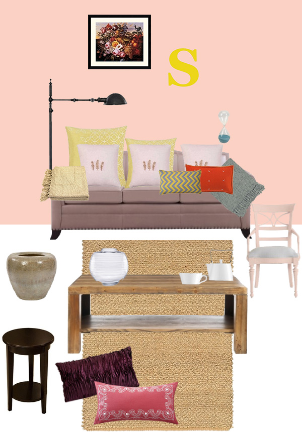 Homes in Pantones with Wayfair on Squirrelly Minds - The Pink Edition