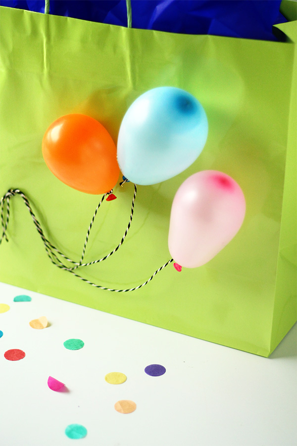 Balloon Gift Bag DIY | Squirrelly Minds