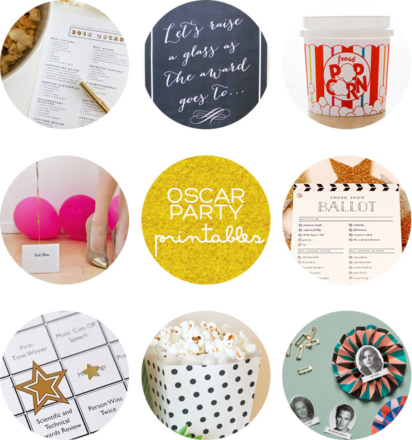 Oscars Party Printables Roundup | Squirrelly Minds