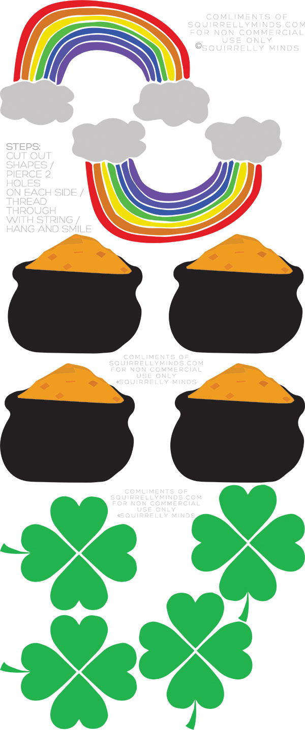 Printable St Pattys Day Bunting from Squirrelly Minds