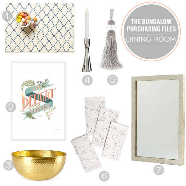 The Bungalow Purchasing Files - The Dining Room | Squirrelly Minds