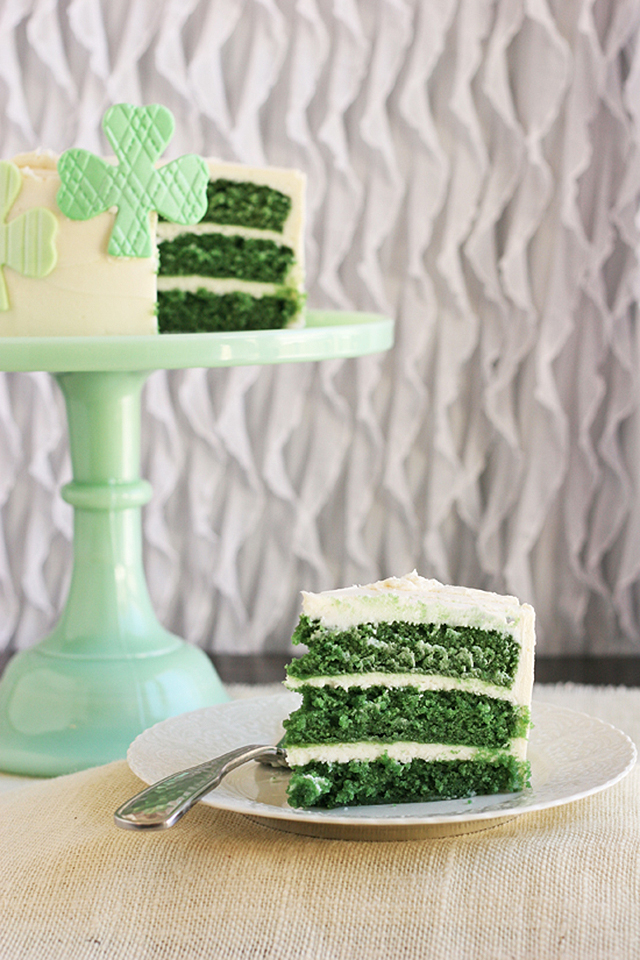 Green Velvet Cake by Best Friends For Frosting on St Patricks Makes and Bakes at Squirrelly Minds