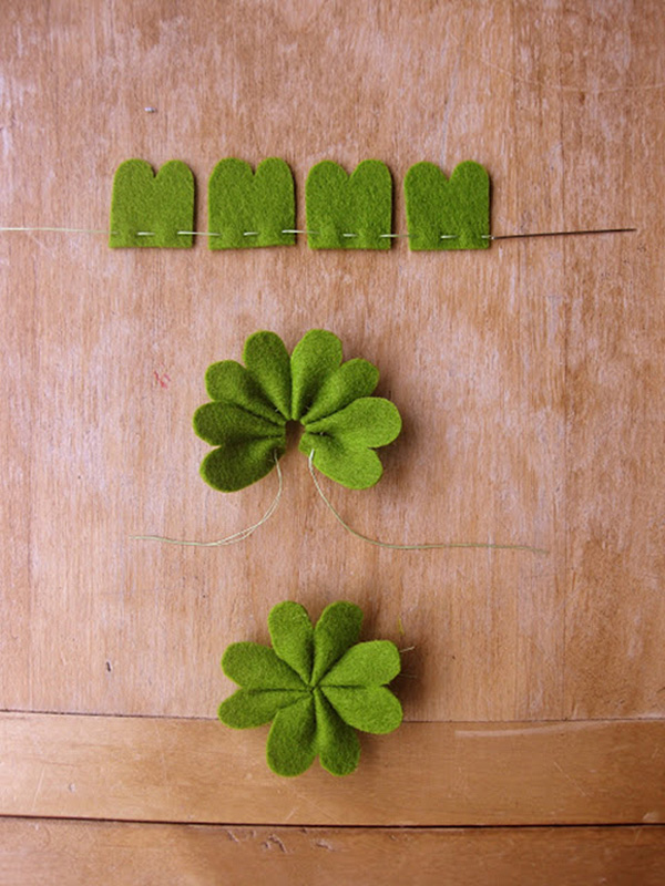 Shamrock Barettes by Paper & Ink on St Patricks Makes and Bakes at Squirrelly Minds