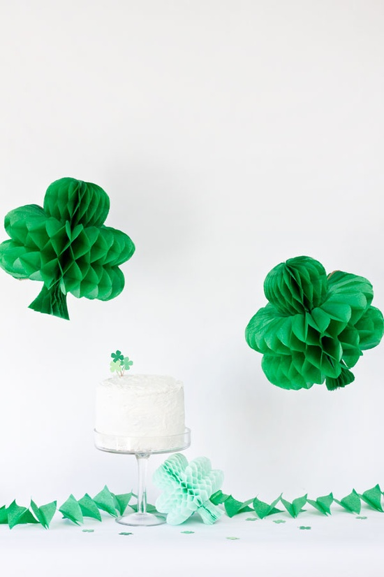 DIY Shamrock Honeycomb by Studio DIY on St Patricks Makes and Bakes at Squirrelly Minds