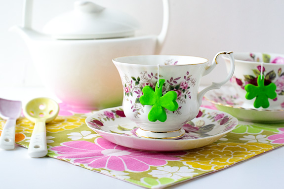Shamrock Teabags by Say Yes to Hoboken on St Patricks Makes and Bakes at Squirrelly Minds