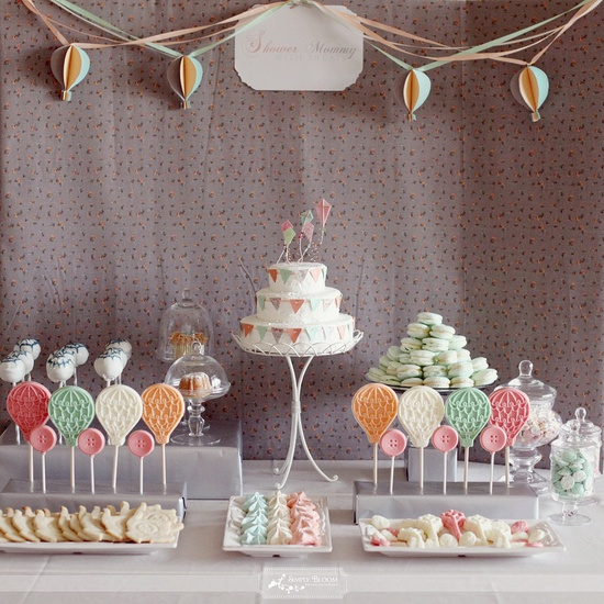 Pinned Via on Squirrelly Minds | Balloon Dessert Table from Simply Bloom Photography