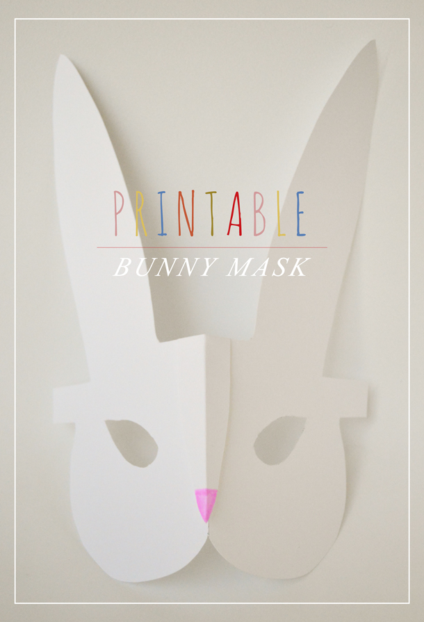 Makes and Bakes on Squirrelly Minds | Printable Easter Bunny Mask by Swoon