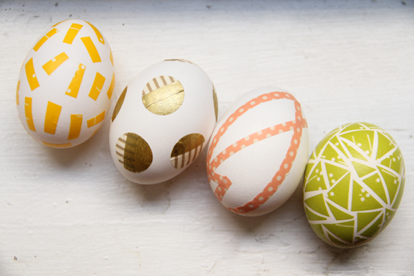 Easter Makes and Bakes on Squirrelly Minds | Washi Tape Easter Eggs by Lovely Indeed