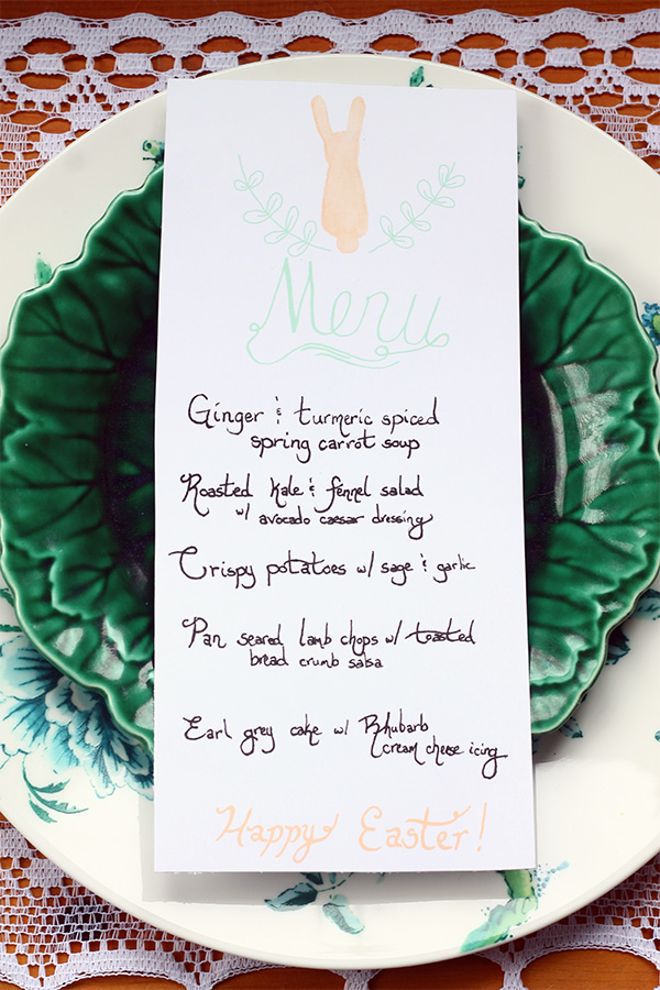 Free Easter Menu Printable from Squirrelly Minds