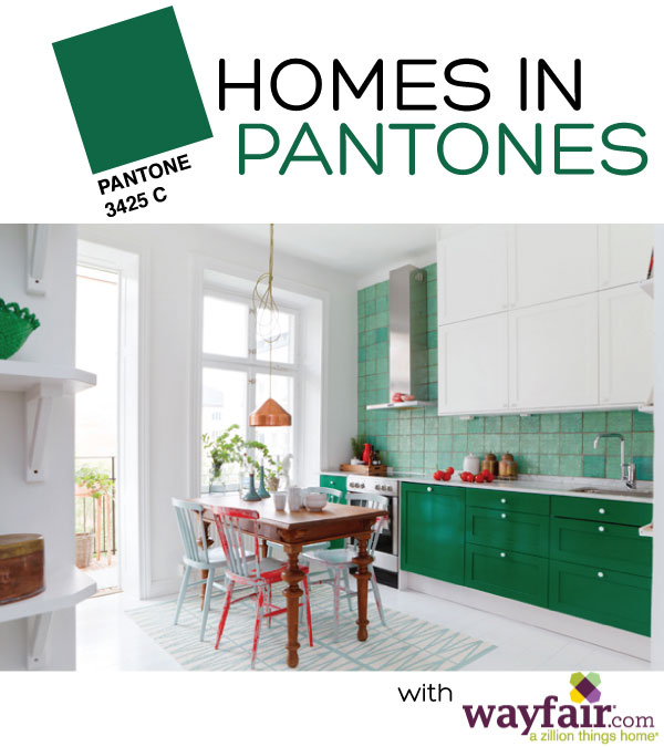 Homes in Pantones on Squirrelly Minds - Green Edition