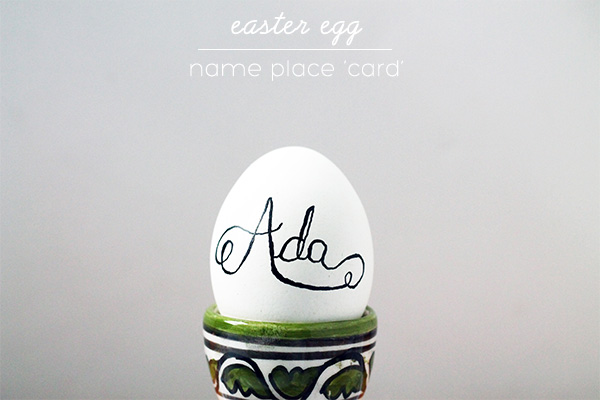 Easy Egg Name Place 'Cards' on Squirrelly Minds