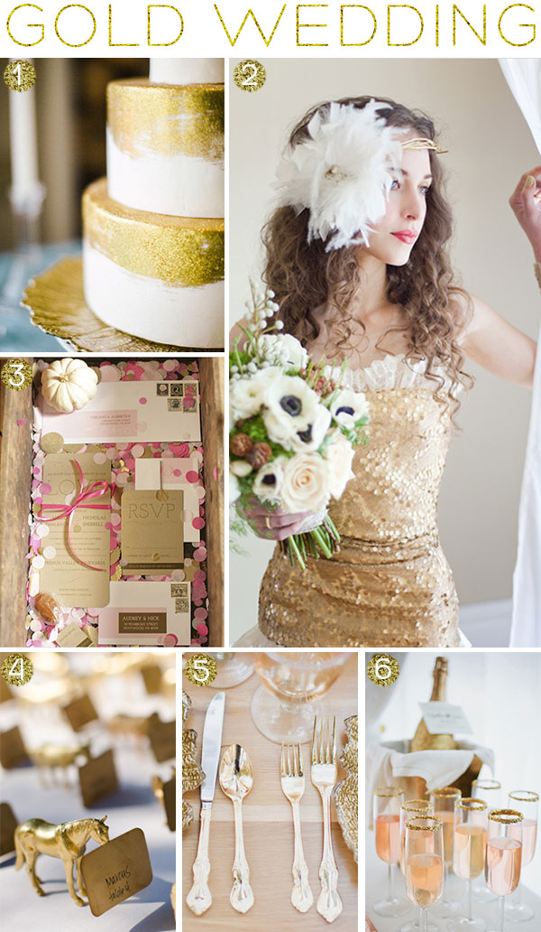 Gold Wedding Inspiration on Squirrelly Minds