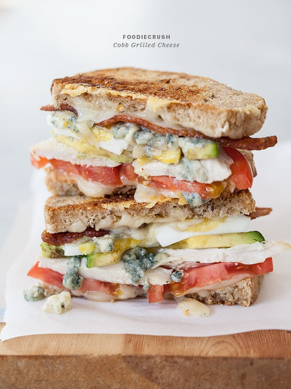 Pinned Via April Edition on Squirrelly Minds | Cobb Grilled Cheese from Foodie Crush