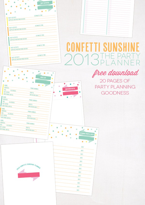 Pinned Via April Edition on Squirrelly Minds | Party Planner Download by Confetti Sunshine