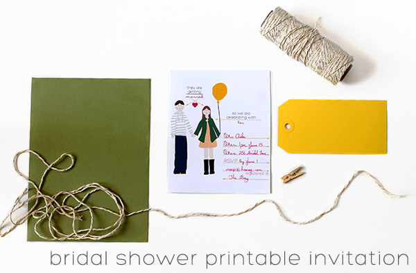 Printable Bridal Shower Invitations from Squirrelly Minds