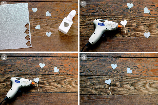 DIY Glittery Heart Cake Toppers | Squirrelly Minds