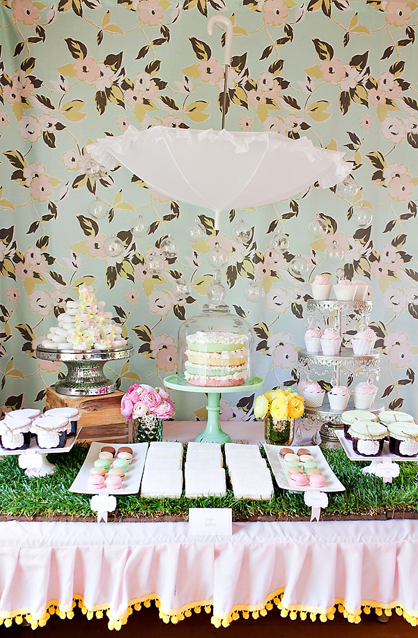 Baby Shower Inspiration on Squirrelly Minds - Dessert Table by Hostess with the Mostess