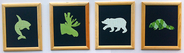 DIY Canadian Animals Nursery Art with Kate J on Squirrelly Minds