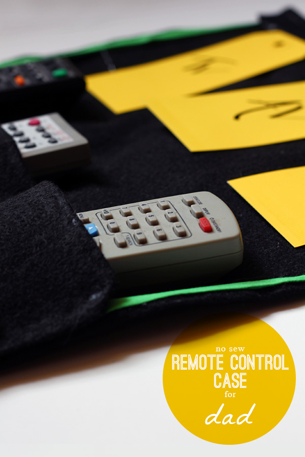 No Sew Remote Control Case for Dad on Squirrelly Minds
