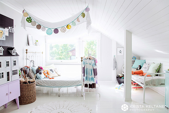 Pinned Via June Edition on Squirrelly Minds | Childrens room in Helsinki from 79 Ideas