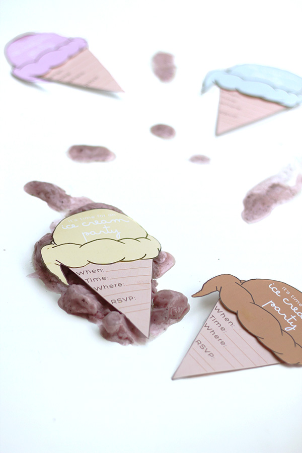 Free Printable Ice Cream Party Invitations from Squirrelly Minds