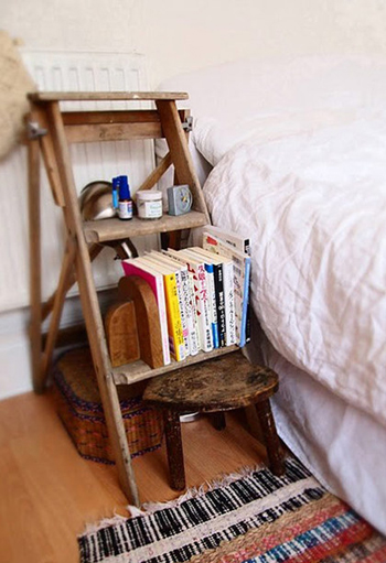 Ladders in the home squirrelly minds for Old wooden ladder projects