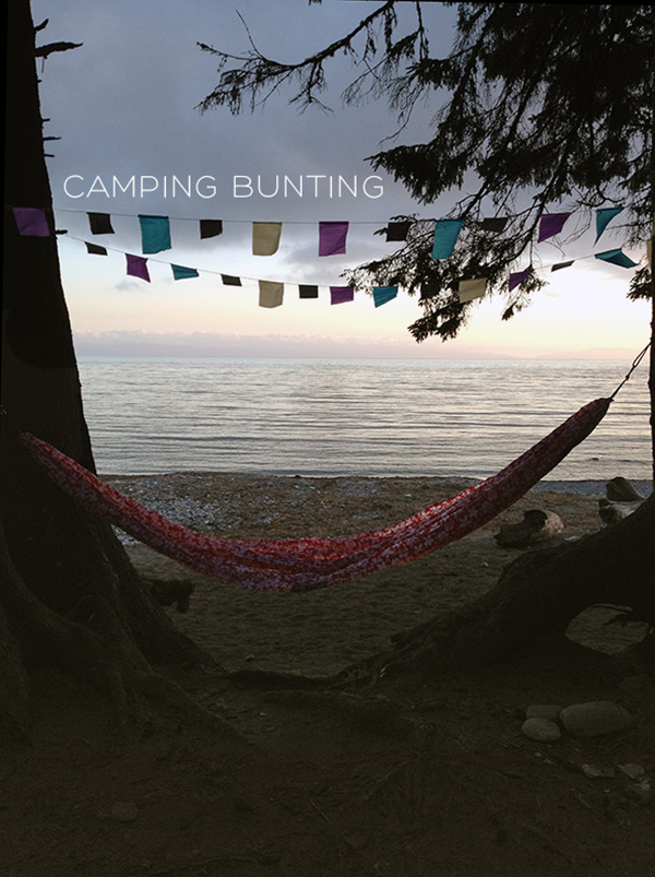 Camping bunting storage and DIY on Squirrelly Minds