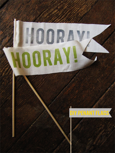 Diy Hooray Pennant Flags With Free Stencil Squirrelly Minds