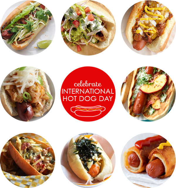 8 different hot dogs for International Hot Dog Day on Squirrelly Minds