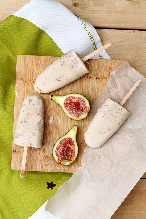 Dairy and Sugar Free Coconut Fig Popsicles