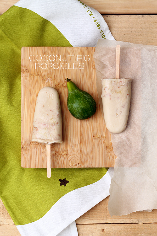 Dairy and Sugar Free Coconut Fig Popsicles on Squirrelly Minds