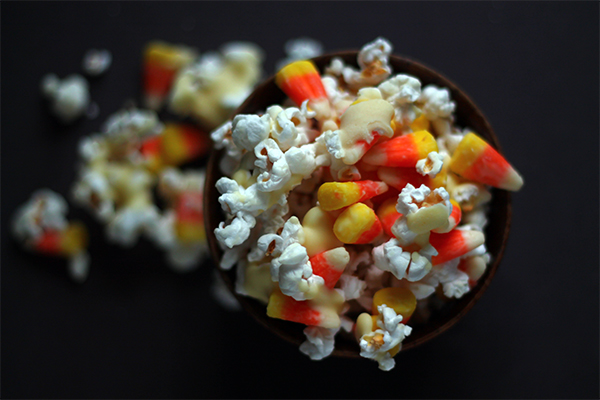 Poppin' Candy Corn Clusters on Squirrelly Minds