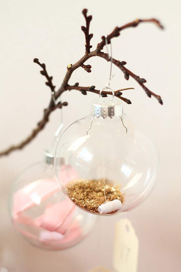 DIY Message in an ornament advent calendar from Squirrelly Minds